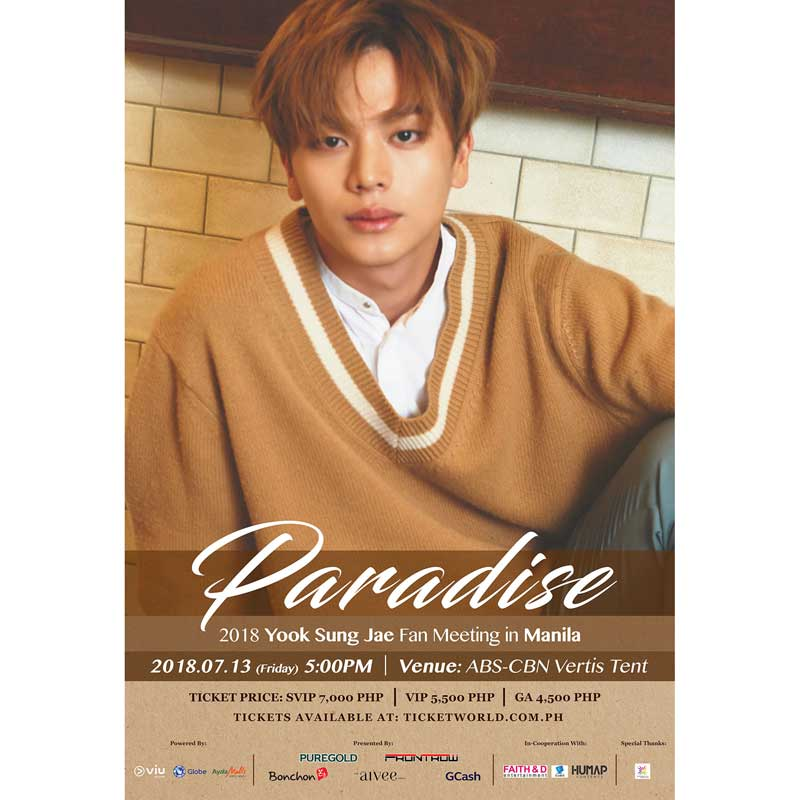 """Paradise: Yook Sung Jae Fan Meeting in Manila"" is locked Paradise: Yook Sung Jae Fan Meeting in Manila"